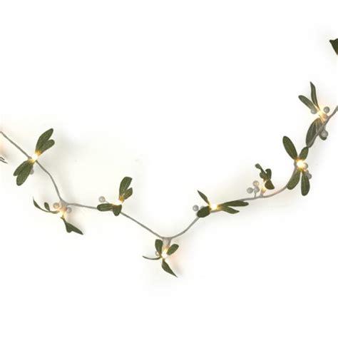 Mistletoe String Lights From Laura Ashley Indoor Mistletoe Lights