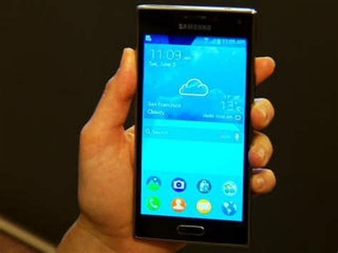 stylish samsung z is tizen s phone