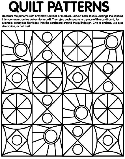 free printable quilt coloring pages quilt patterns coloring page crayola com