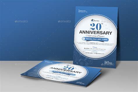 20th anniversary card template anniversary card template 21 free premium