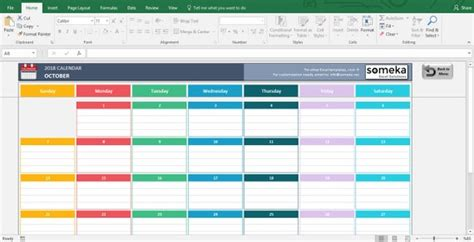 excel calendar template  printable spreadsheet