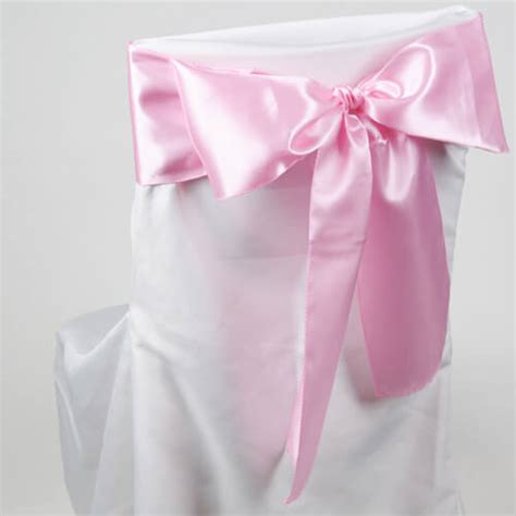Pink Sashes For Chairs satin chair sashes pink pack of 10