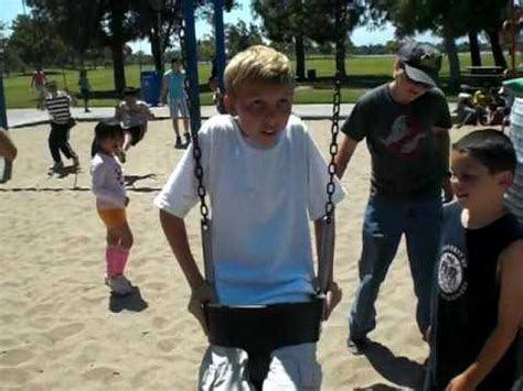 swing wedgie big kid on baby swing part 1 youtube