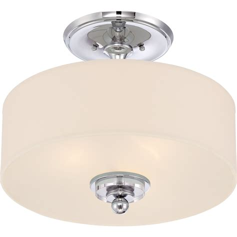 Quoizel Dw1717c Downtown Modern Contemporary Semi Flush Contemporary Semi Flush Mount Ceiling Light
