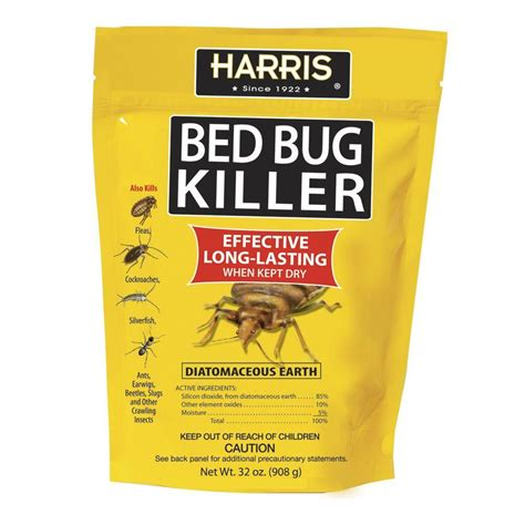 bed bugs powder harris 32 oz diatomaceous earth bed bug killer earth