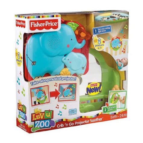 Crib Projector Soother by Fisher Price U Zoo Crib N Go Projector Soother