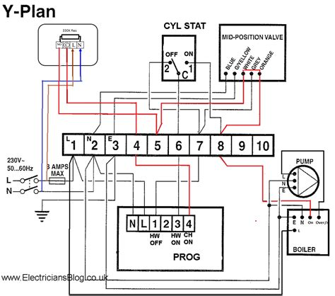 boiler wiring diagram for thermostat boiler wiring diagram for thermostat to y plan hive new