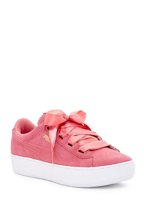 Sandal Sendal Wanita Pita Ribon Pink Sandal Premium Wanita lyst vikky ribbon platform sneaker in pink