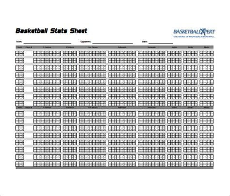 basketball stat sheet template basketball score sheet template form preview and