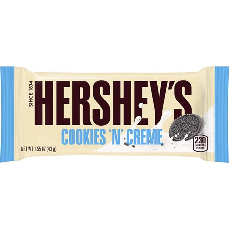 Hersheys Cookies N Creme hershey s cookies n creme white chocolate 43g bar