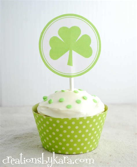 St Fondant Pattern st s day cupcake toppers free printable