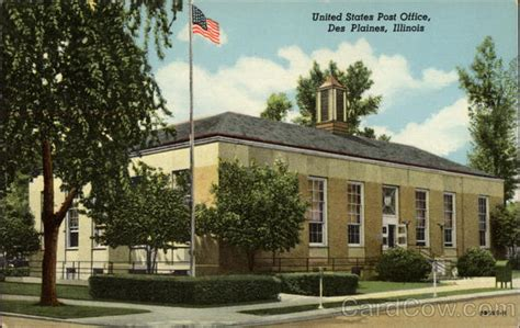 Des Plaines Post Office by United States Post Office Des Plaines Il