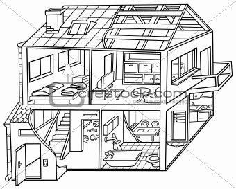 modern house coloring page cells plant and animal john jay educational cus library