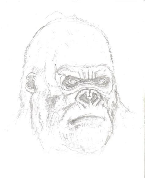 king kong head portrait by mmawolf on deviantart