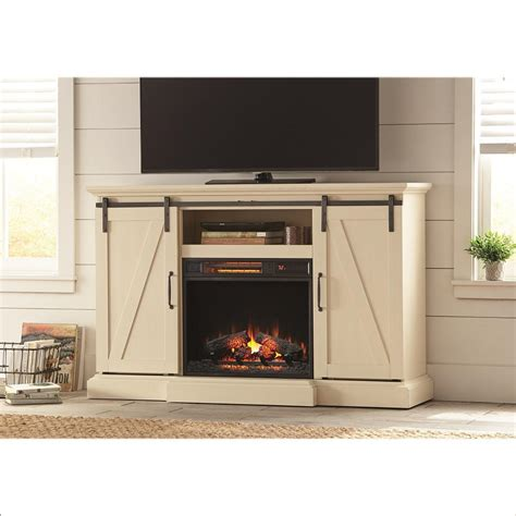 Home Depot Electric Fireplace Tv Stand by Home Decorators Collection Chestnut Hill 56 In Tv Stand Electric Fireplace With Sliding Barn