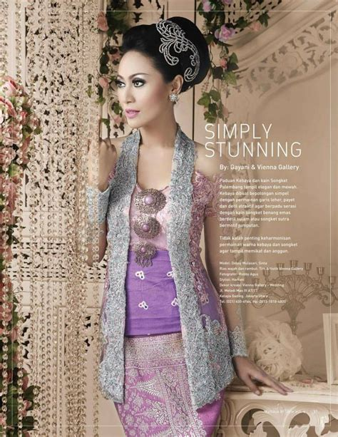 Kebaya Avantie Songket Skirt 310 simply stunning kebaya combined with palembang songket so