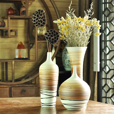 home decor ceramic modern fashion brief floor vase set