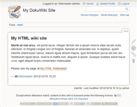 dokuwiki templates changing the dokuwiki template inmotion hosting