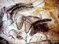 Chauvet cave, France. Groupings Of Animals