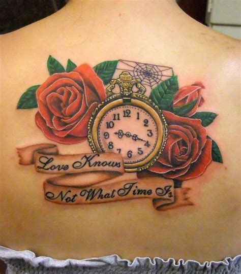 clock and rose tattoo designs 55 best tattoos designs best tattoos for