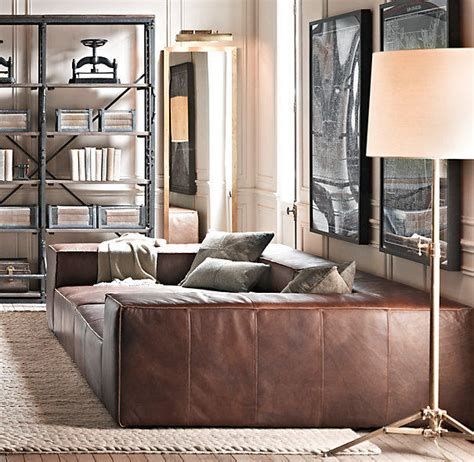 fulham leather daybed from restoration hardware i dont