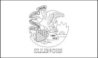 of illinois colors colouring book of flags united states of america