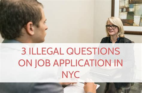Illegal Application Questions 3 Illegal Question On Application In Nyc
