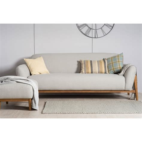 Modern 3 Seater Sofa Milo Modern 3 Seater Sofa Light Grey The Furniture Company Ltd