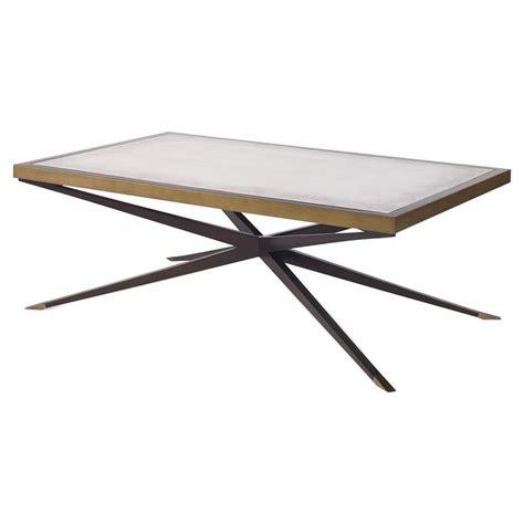 Cross Coffee Table Jet Modern Cross Pin Brass Antique Mirror Coffee Table