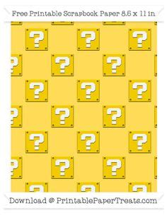 Bros Jumbo Merak Yellow free pastel light yellow large mario question box pattern paper mario bros mario