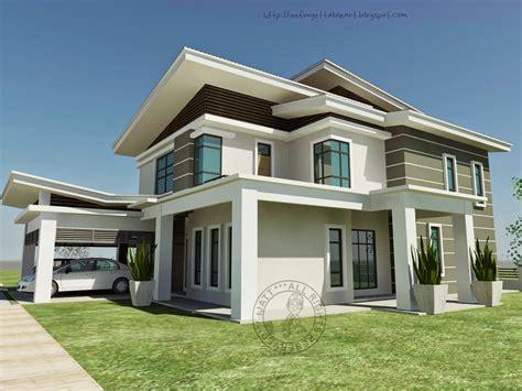 warna cat rumah banglo desain rumah