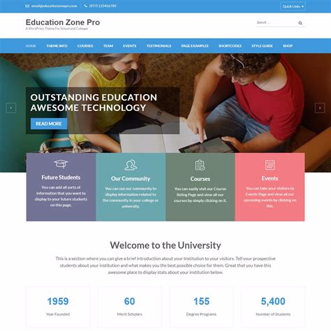 theme blogger education 17 best education wordpress themes and templates for 2018