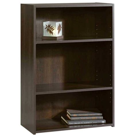 sauder beginnings bookcase sauder beginnings cinnamon cherry open bookcase 409086