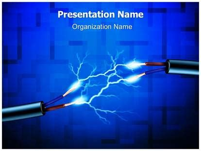 Electrical Energy Powerpoint Template Background Electrical Engineering Ppt Templates Free