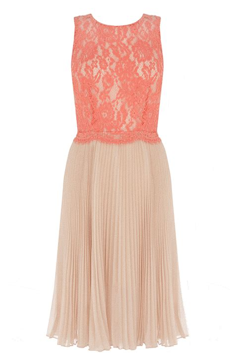 the dress oasis pink lace pleated midi dress all the dresses