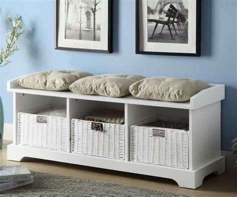 home decor storage white storage bench with pillow optimizing home decor