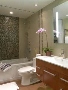 Small bath remodel contemporary bathroom orange