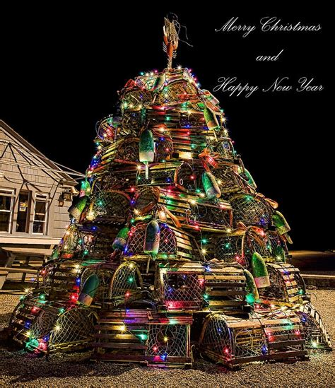 maine lobster trap christmas tree my state pinterest