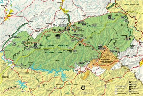 smoky mountains map great smoky mountains national park information