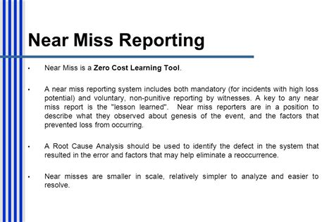 sle near miss report environment near miss incident images