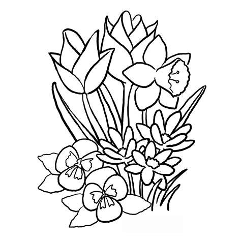 imagenes de flores grandes para colorear dibujos de flores grandes para colorear