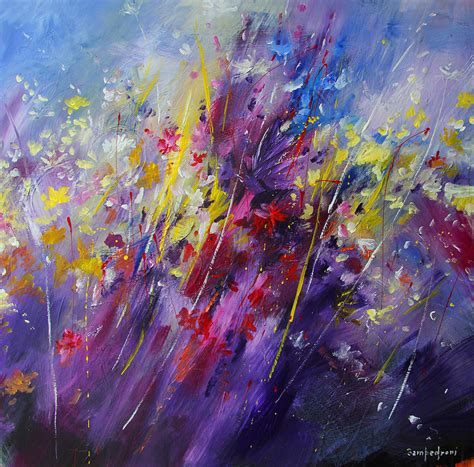 Abstract Flowers abstract flowers painting by mario zedroni