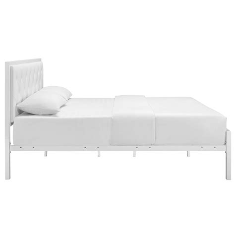 bed side view modern beds myles white platform bed eurway modern