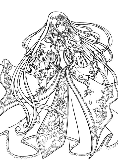 blank coloring pages princess princess coloring pages the anime this would be