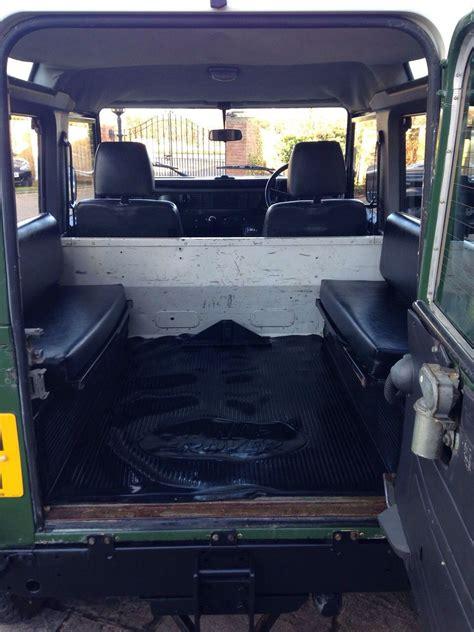 jeep defender interior 200tdi defender 90 standard rear with bench seats land