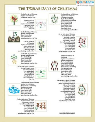 printable christmas carols lovetoknow
