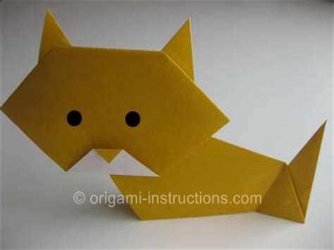 Make Origami Cat Kitten Folding - origami folding how to make an origami cat
