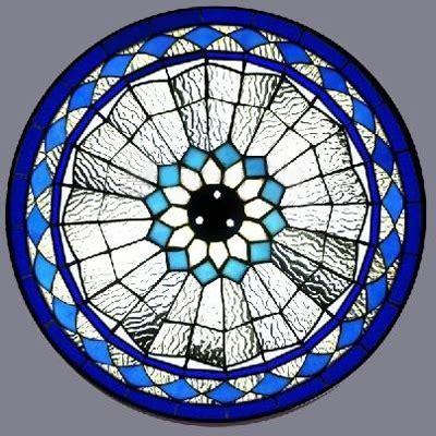 Blue Diamond Pattern 12 Inch Flush Mount Ceiling Light in