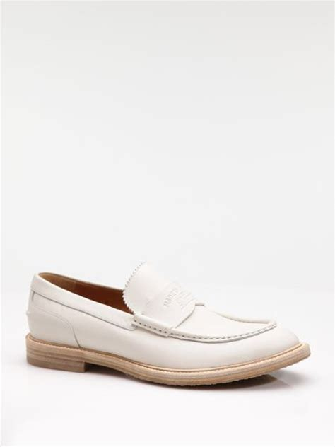 gucci loafers white gucci loafer in white for mystic white lyst