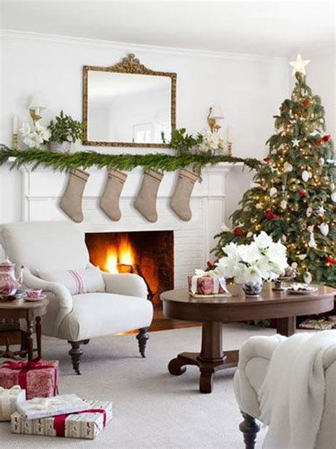simple christmas home decorating ideas 60 elegant christmas country living room decor ideas